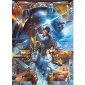 Fototapeta - STAR WARS Luke Skywalker Collage