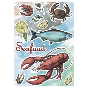 Dekorativna nalepka - Seafood