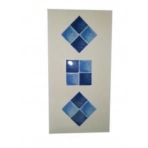Decor style kopalniška dekoracija modra -