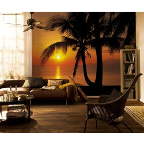 Fototapeta - Palmy Beach Sunrise