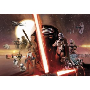 Fototapeta - STAR WARS EP7 Collage