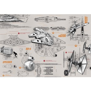 Fototapeta - STAR WARS Blueprints