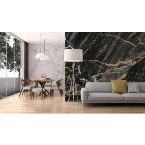 Foto tapeta - Black Gold Marble
