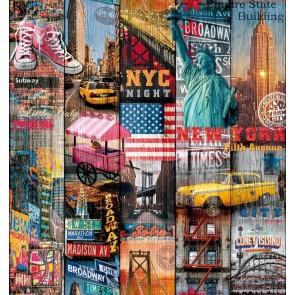 Samolepilna folija kos - Dekor Manhattan