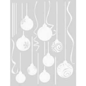 Statična nalepka Spirit - Novoletni okraski kroglice