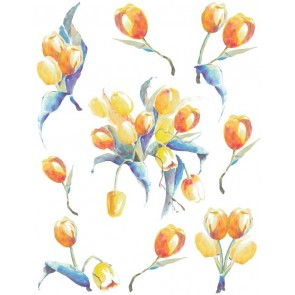 Samolepilna nalepka Spirit Flow - Tulipani