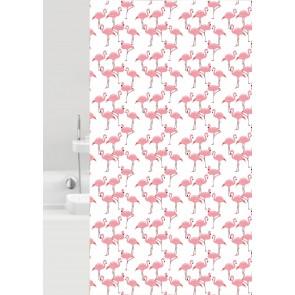 Kopalniška zavesa - Tekstil Flamingo corallo