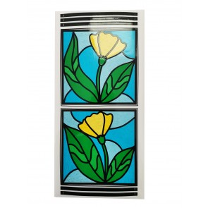 Dekor Tiffany rumena roža -