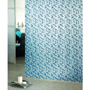 Kopalniška zavesa - Vinil Mosaico indigo