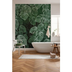 Fototapeta - Monstera on Marble