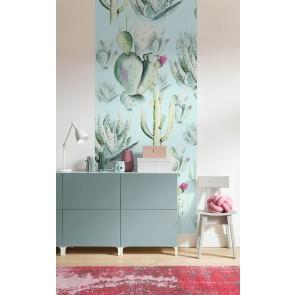 Fototapeta - Cactus Blue Panel