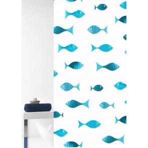 Kopalniška zavesa - Tekstil Scuba modra