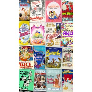 Fototapeta - Disney Movie Posters Retro Girls