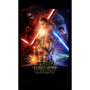 Fototapeta - Star Wars EP7 Official Movie Poster
