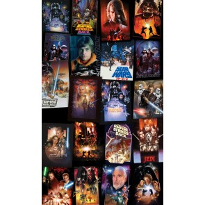 Fototapeta - Star Wars Posters Collage