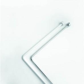 Nosilec za kopalniške zavese - Kotni bel 80 cm x 80 cm